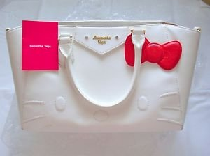 Hello kitty x Samantha Vega Azel 2WAY Tote,shoulder bag Size M White Thavasa FS