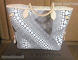 LOUIS VUITTON Yayoi Kusama Collaboration Monogram Neverful shoulder Tote Bag FS