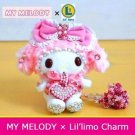 Very rare! My Melody Lil' limo Charm Swarovski Stuffed mascot Japan Limited FS