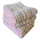 Made in Japan! NEW ECO Imabari Stripe Face Towel 5 sheets set Cotton100% F/S