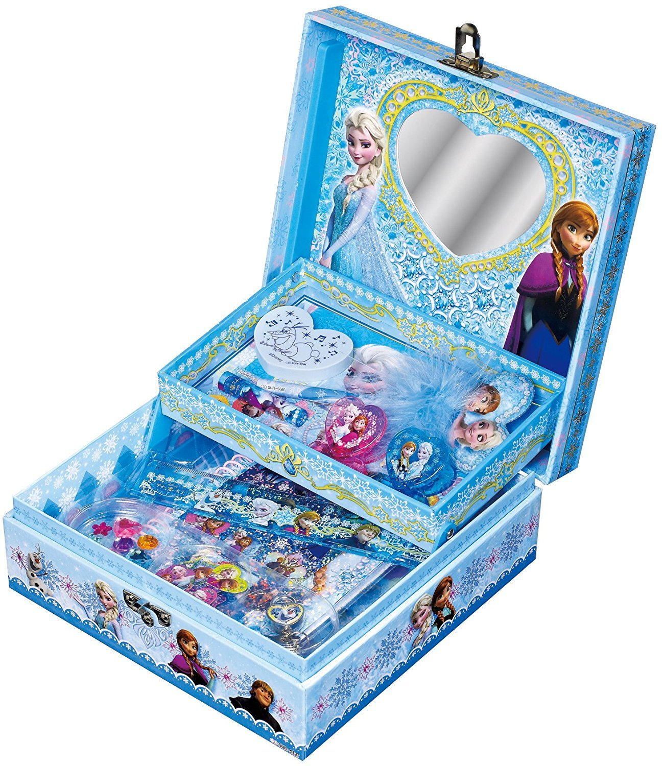 Elsa Frozen Secret of jewelry box case DC Stationery SET Disney F/S Gift set