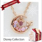 Christmas Limited Disney Minnie Mouse necklace pendant Silver gold plated NEWFS
