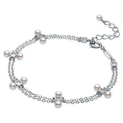 MIKIMOTO Akoya Pearls 3.5-3.7mm Silver Bracelet from Japan NEW FS