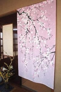 Noren Doorway Hang Down Cherry blossom Japanese Traditional Curtain PartitionNEW