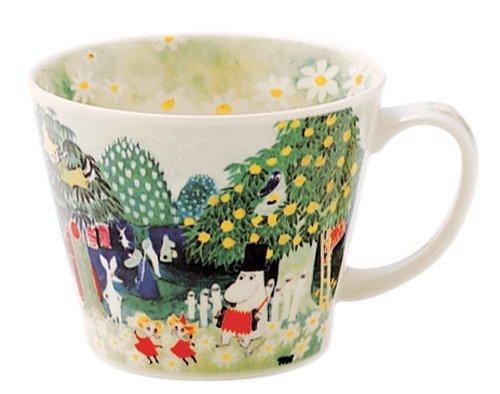 Moomin Valley Soup Mug Cup Yamaka Watercolor MM323-36 The Moomins Japan NEWF/S