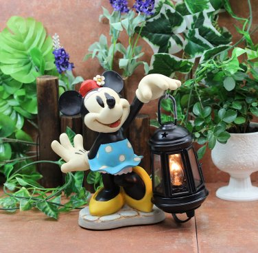 Disney Minnie Mouse LED Resin Garden Light Room Table lamp Figure JAPAN NEW FS