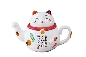 Beckoning cat Lucky cat teapot from Japan NEW F/S