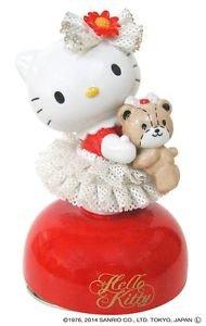 Free shipping Hello Kitty 40th Ceramic Porcelain Lace Doll Music Box PlushFigure