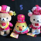 2014 large Rilakkuma Exhibition limited Glitter tuxedo plush doll toys 3 set FS