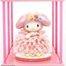 My Melody 40th.Porcelain Ceramic Lace Doll + Glass case Japan Limited FiguresNEW