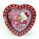 ❦Kawaii Hello Kitty Heart jewelry Wall Clock Red Ribbon from JAPAN FS❦