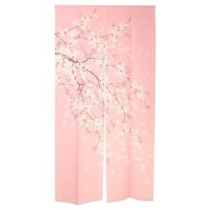 Long Japanese Doorway Cherry blossom pink 85 � 170 Partition polyester UV cut FS