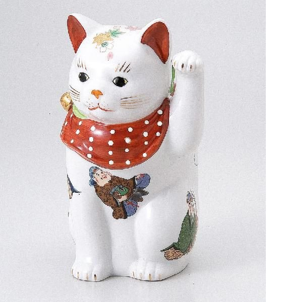 Luck Seven Lucky Gods Cat small (Beckoning cat) Ornament from Japan NEWF/S