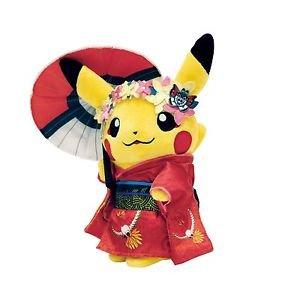 Pokemon Center Original Pikachu Maiko Geisha Plush Toy Japan Go NEW FS