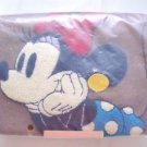 Disney Minnie Mouse Sagara Embroidery 2-way shoulder bag Tote bag Brown JAPANNEW