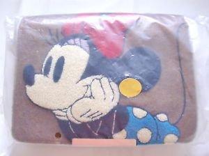 Disney Minnie Mouse Sagara Embroidery 2-way shoulder bag Tote bag Brown JAPANNEW