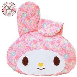 My Melody 40th Anniversary Face-shaped cushion Pink kawaii Sanrio Japan New FS