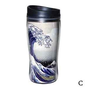 Free shipping Japanese Ukiyo-e Tumbler HOKUSAI SAMURAI Mug Bottle TeeThermos NEW