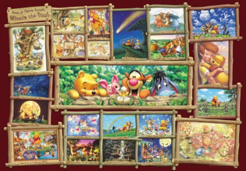 Disney Winnie the Pooh Art Collection The Smallest Piece Size Jigsaw Puzzle 1000