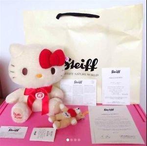 Steiff Hello Kitty Teddy bear Steiff Nature World limited 750! JAPAN NEW FS