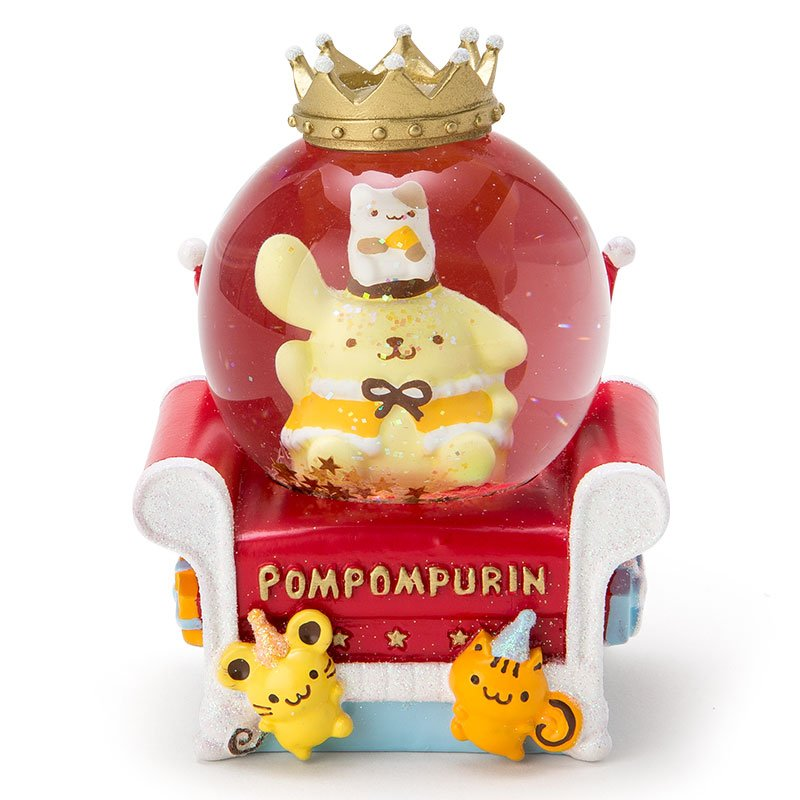 New release! 2016 Sanrio Pompom Pudding Christmas Snow Globe dome Japan FS