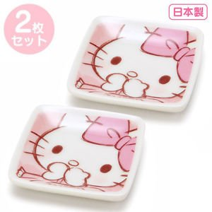 Kawaii Hello Kitty Petit angle small dish (Dream) 2 pieces set Free shipping NEW
