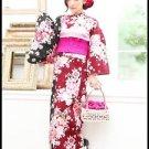 Rose + Margarety Maiko Yukata Set Cherry Blossom kimono Cotton Dress M Flower FS