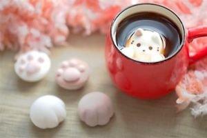Kawaii Cat Cafe,cat pad Marshmallow banilla chocoalte sweets JAPAN Gift FS