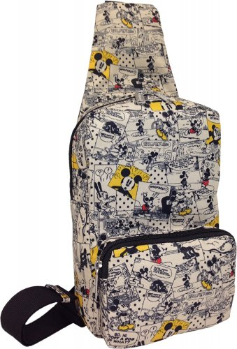 Disney Mickey mouse Comic One Shoulder Bag School bag case Kids Beige NEW FS