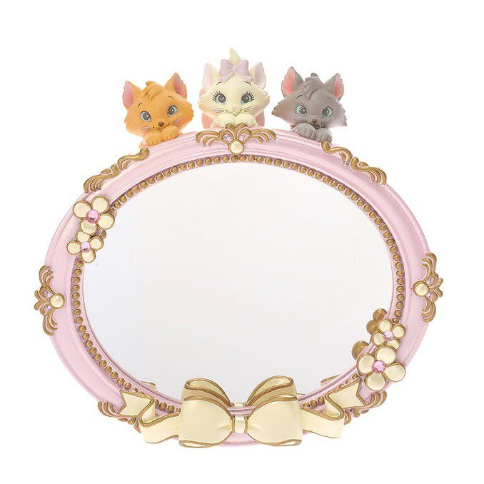 �NEW The Aristocats Marie Stand Mirror Lovely pink Disney Store Japan �