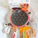 TAKOYAKI Set from Japan! 18 forms with takoyaki powder,source,pick,brush F/S NEW