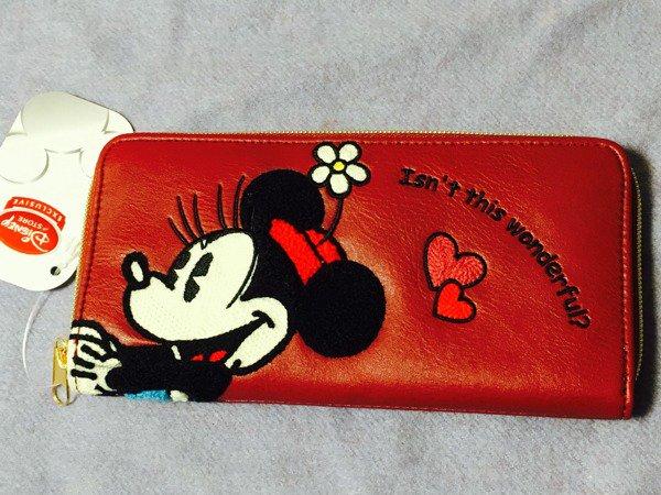 Disney Minnie Wallet I'm in fantasy SAGARA purse Red DISNEY STORE JAPAN NEW FS