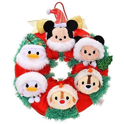 Disney Official 2015 TSUM TSUM Christmas Wreath Mickey & Friends Plush Toy FSNEW