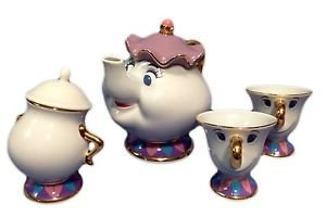 Beauty And The Beast Mrs Potts Pot and Chip Tea Cup Set Disney Resort limited
