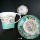 ❦Disney Aristo Cats Marie Macaron Teapot & Cup Set Light blue saucer NEWF/S❦