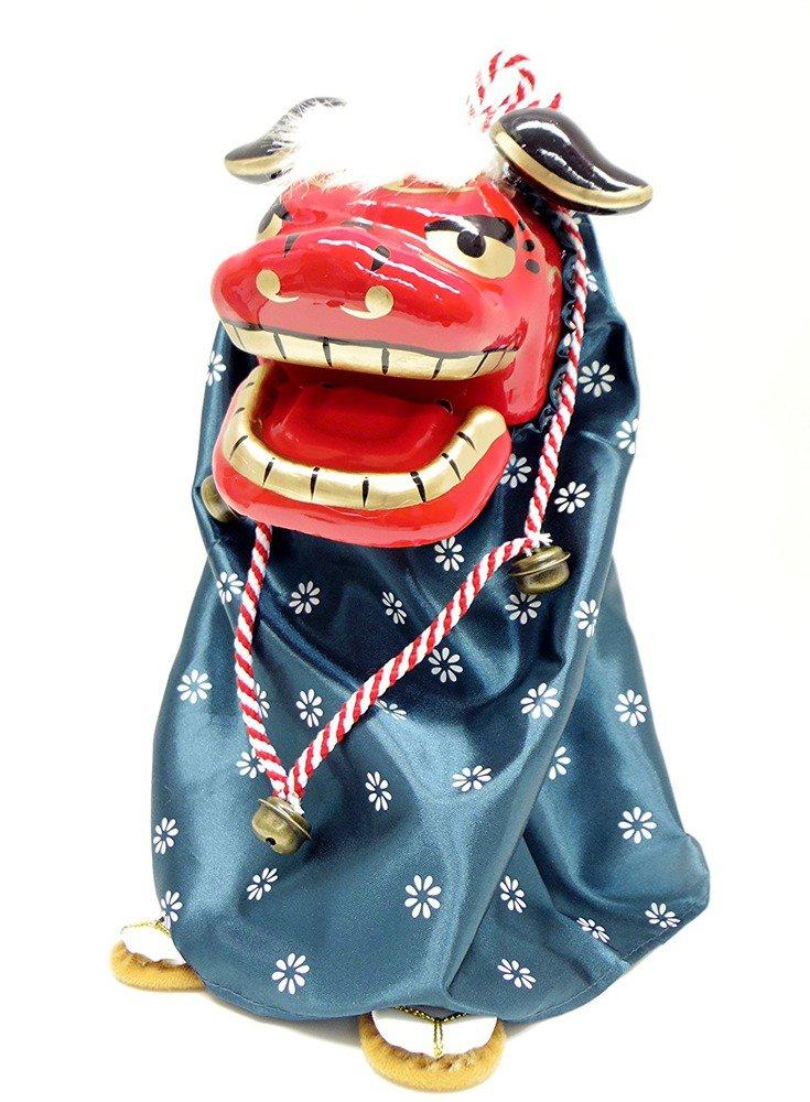 Shishimai Dancing lion Head swing doll Japanese Tradition sound sensor Toy FSNEW