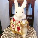❦Disney Alice in Wonderland Trump Rabbit Plush Doll Handmade FS NEW from Japan ❦