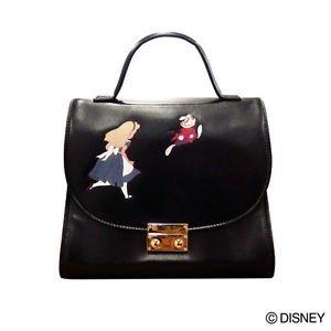 Presale! Alice in Wonderland Classic bag Hand shoulder 2WAY tote black green FS