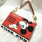 ❦Disney Mickey Mouse Vintage style poster art 2way Shoulder bag Tote bag NEW FS❦