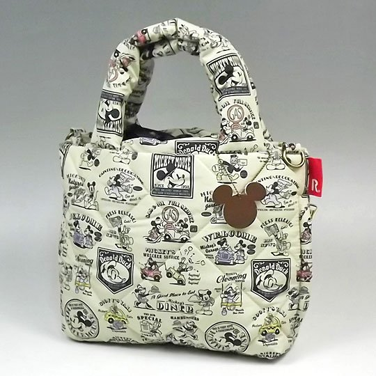 Disney Rootote 2wayTote Bag Shoulder Handbag Purses Mickey Mouse Minnie New FS