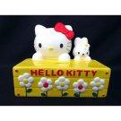 1999 NEW Sanrio Hello Kitty Pottery Rabbit Kitty Piggy Bank from Japan Yellow FS