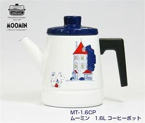 Moomin Coffee pot 1.6L Kettle MT-1.6CP Tea pot Enamel Japan NEW F/S