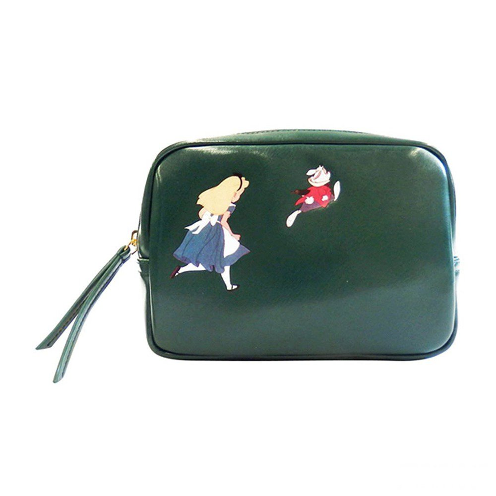 Accommode Disney Wonderland's Alice Classic Pouch Cosmetic bag case Dark GreenFS