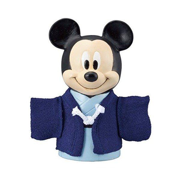 �Disney Mickey Kimono Piggy bank doll Pottery figure MADE IN JAPAN NEW FS�