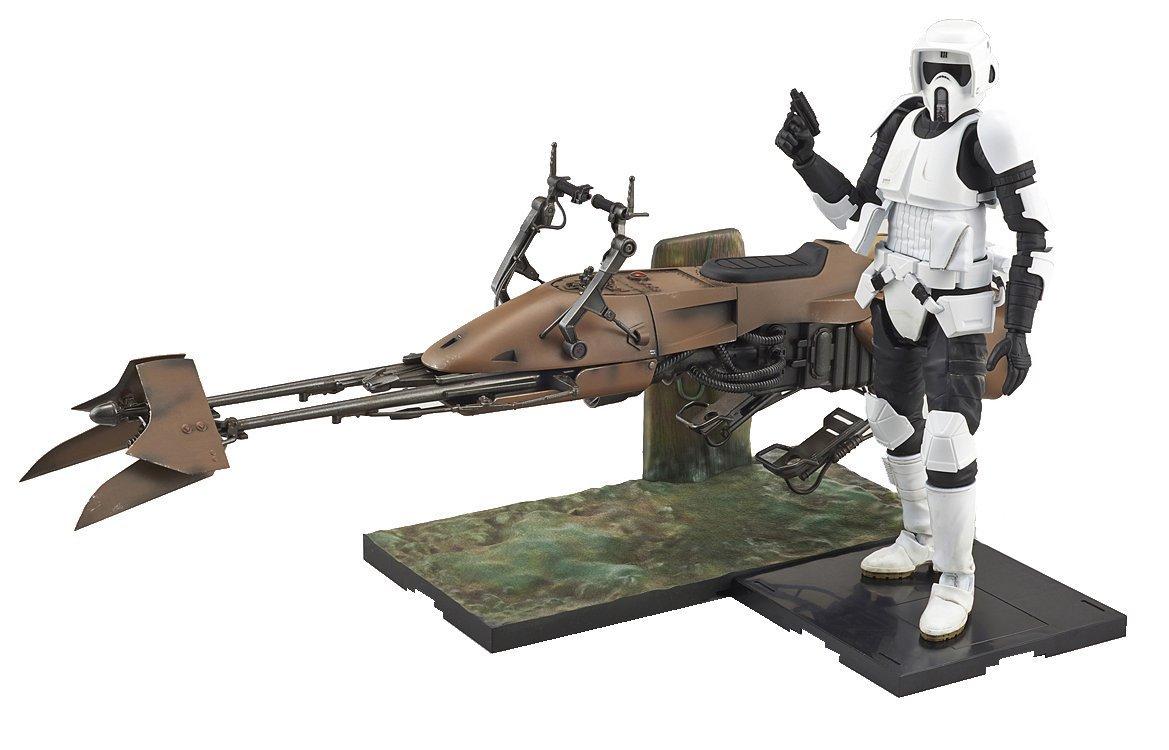 Bandai Star Wars 1/12 Scout Trooper & Speeder Bike Model Kit F/S from Japan NEW