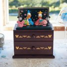 Donald & Daisy Hina doll Chest of drawers Accessory box Wooden case figure Japan