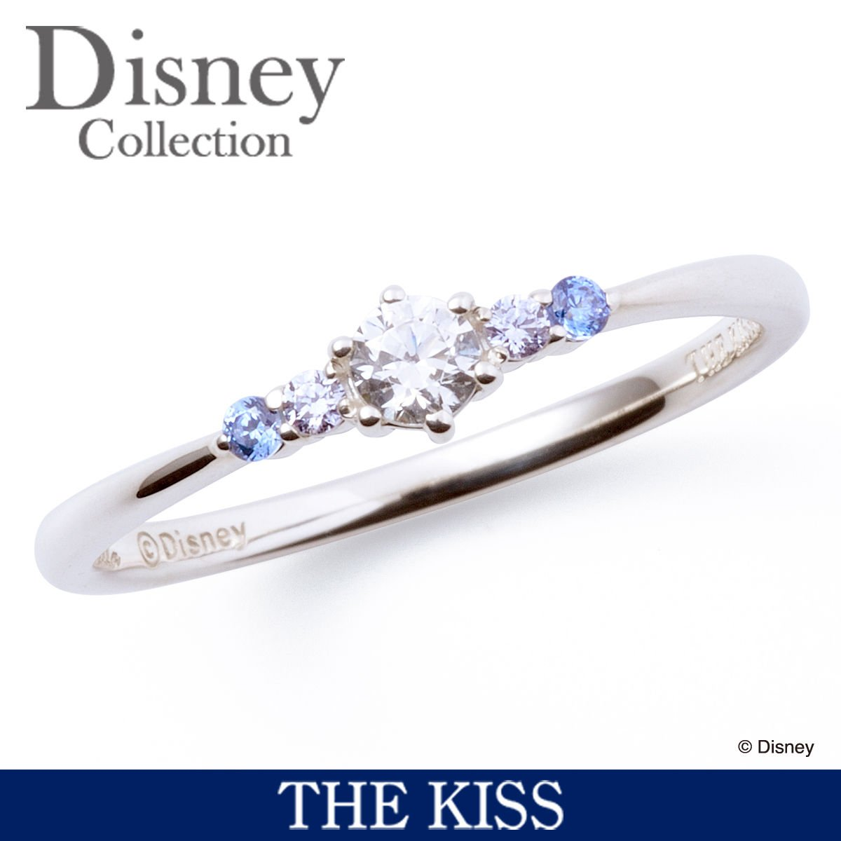 Disney � THE KISS  Princess Cinderella Sterling Silver 925 Ring 4 6 7 FS Japan