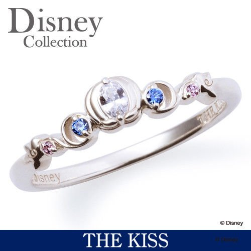 Disney � THE KISS  Princess Cinderella Sterling Silver 925 Ring 4 5 6 7 FS Japan