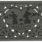 Disney Doormat Mickey Mouse & Minnie Gray Green Brown Red Entrance mats JAPAN