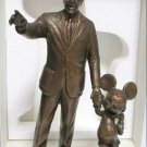 Tokyo Disneyland 25th Anniversary Walt and Mickey Partners bronze statue Figure